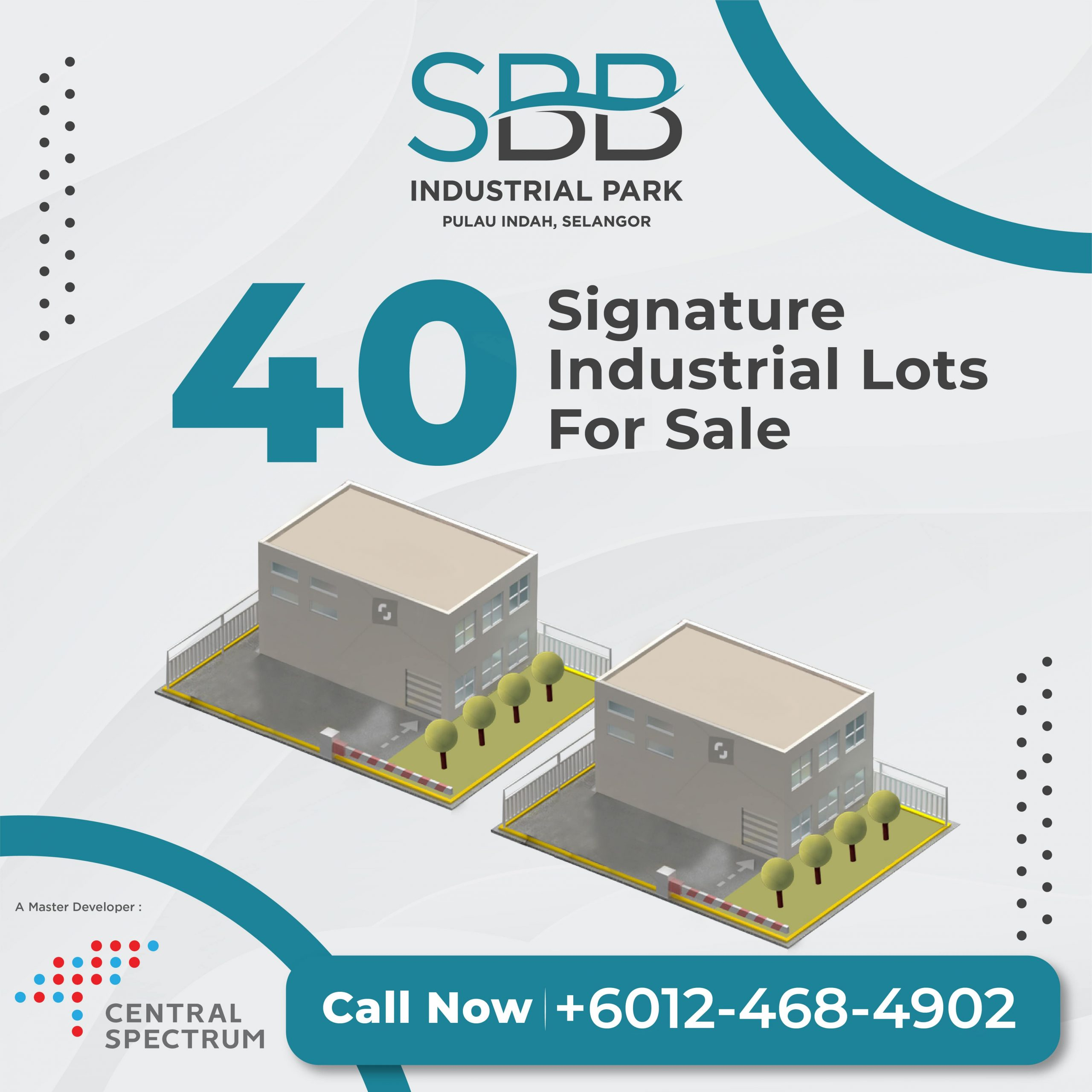 40 industrial lots for sale
